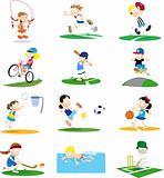 Sporty Cartoon Character Assortment