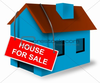 House with sign
