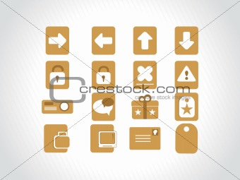 yellow small icons for multipurpose use