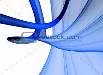 Blue abstract design