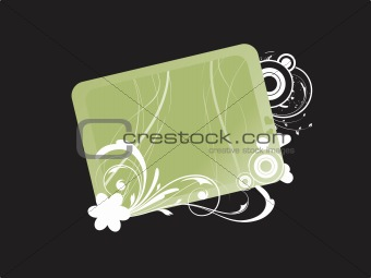 abstract floral frame background_2