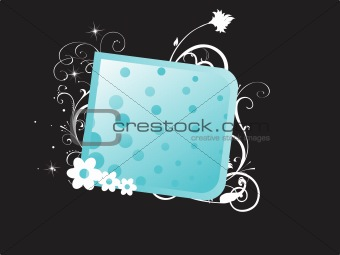 abstract floral frame background_4