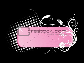 abstract floral frame background_5
