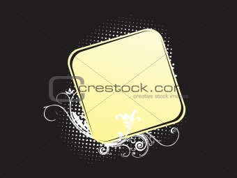 abstract floral frame background_7