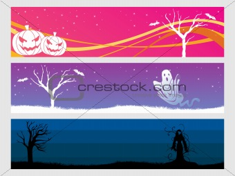 abstract halloween banner series set12