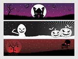 abstract halloween banner series set13