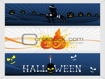 abstract halloween banner series set14