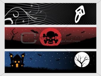 abstract halloween banner series set15