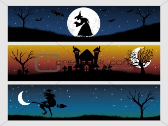 abstract halloween banner series set20