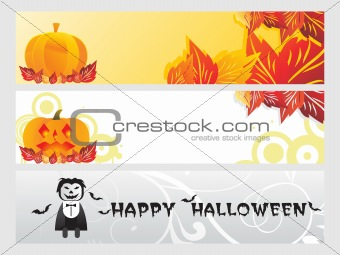 abstract halloween banner series set22