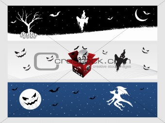 abstract halloween banner series set23