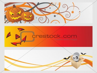 abstract halloween banner series set25