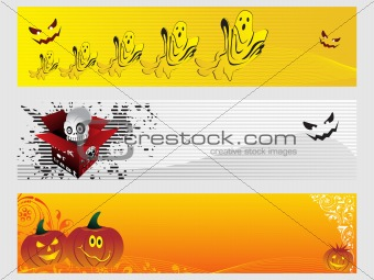 abstract halloween banner series set27