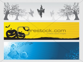 abstract halloween banner series set29