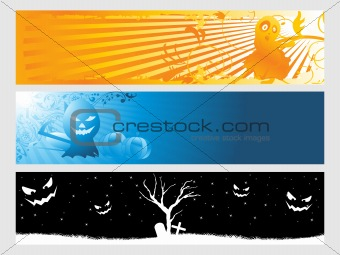abstract halloween banner series set31