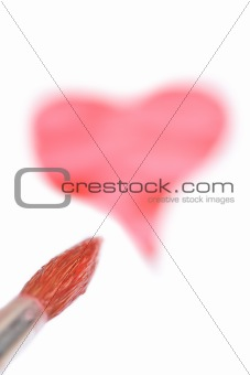 Watercolor painted heart shape