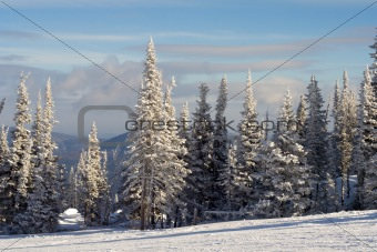 Slope for skiing and snowboarding