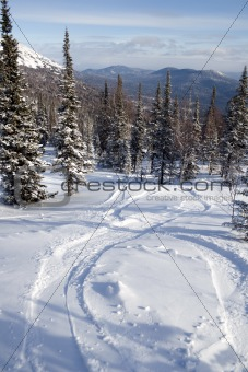 Slope for freeride skiing and snowboarding