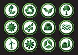 Ecology and recycling icons