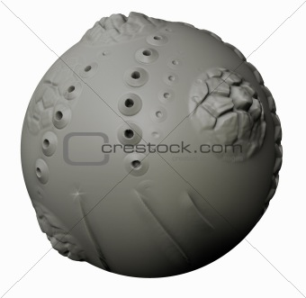 Abstract Clay Ball
