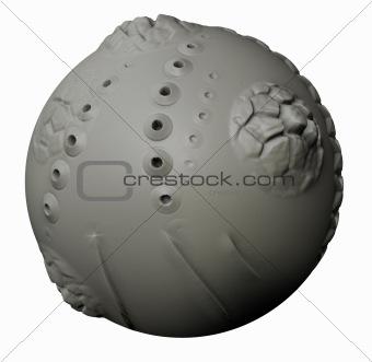 Abstract Clay Ball
