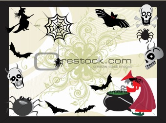 abstract halloween series5 design1
