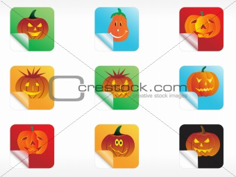 abstract halloween sticker series set3