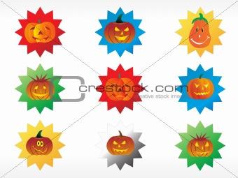 abstract halloween sticker series set7