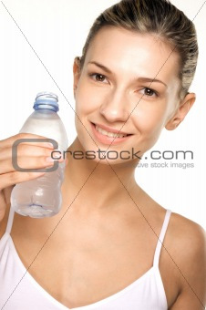 Beauty shot of girl drinking water