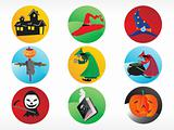 abstract halloween sticker series set10