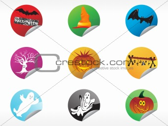 abstract halloween sticker series set12