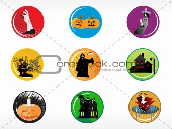 abstract halloween sticker series set13