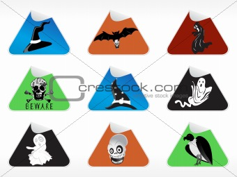 abstract halloween sticker series set16