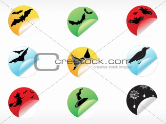 abstract halloween sticker series set24