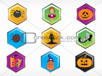 abstract halloween sticker series set8