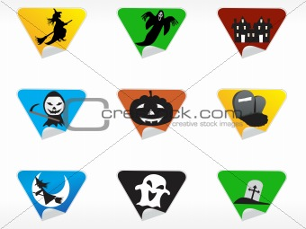 abstract halloween sticker series set9