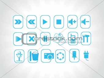 abstract vector blue logo element illustrations