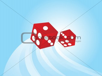 abstract vector dice, wallpaper