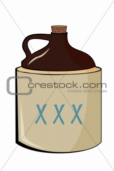 Old moonshine jug