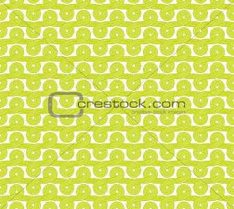 Seamless intertwined ribbons background