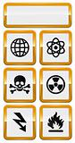 set of danger icons