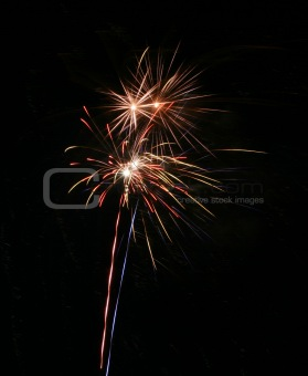 Four firework explosions