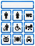 icons set of service signs