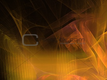 Abstract background. Flame orange palette.