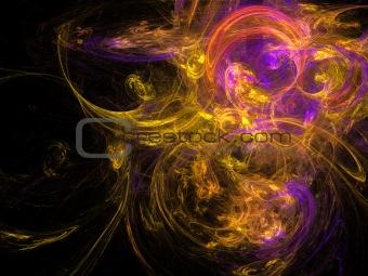 Abstract background. Orange - purple palette.