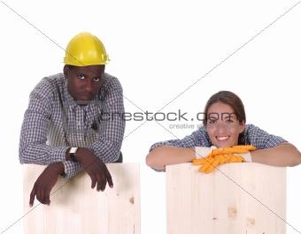 carpenter and woman carpenter