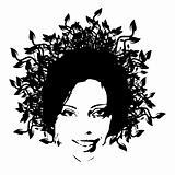 floral woman face