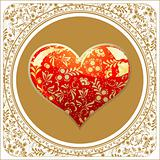 golden Valentine&#39;s Day background