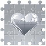 puzzle metallic heart