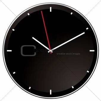 modern negative clock